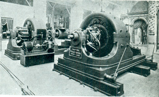 Tesla polyphase AC 500hp generator at 1893 exposition