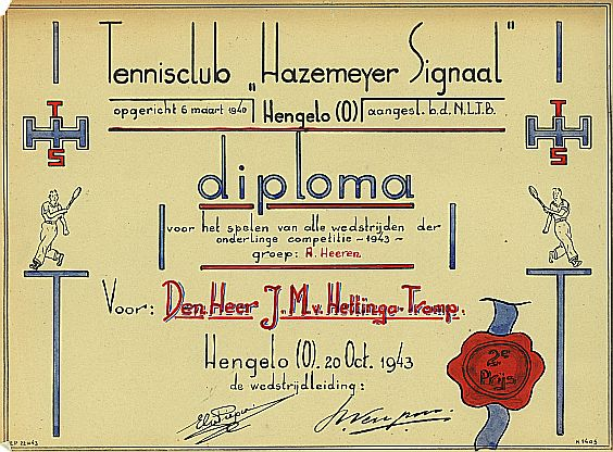 Tennisclub Hazemeyer 1943