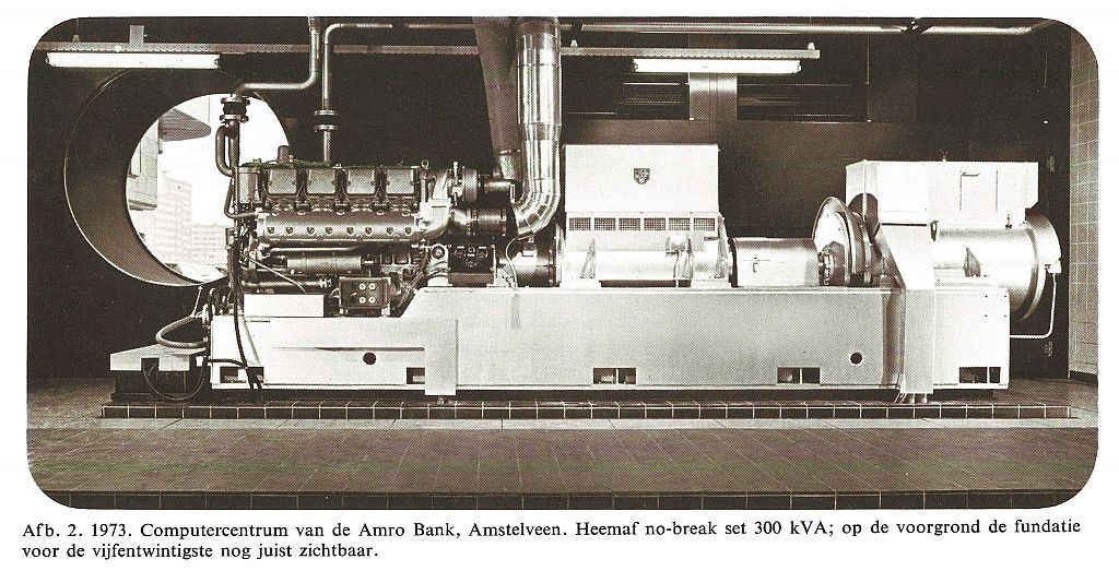 Heemaf no-break installatie 1973