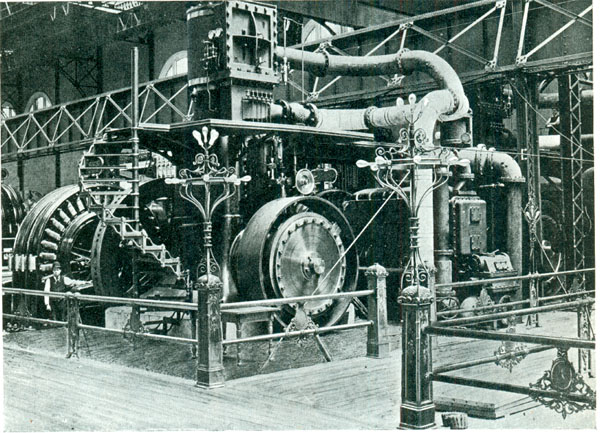 Westinghouse dynamo 1893 fair machinery building